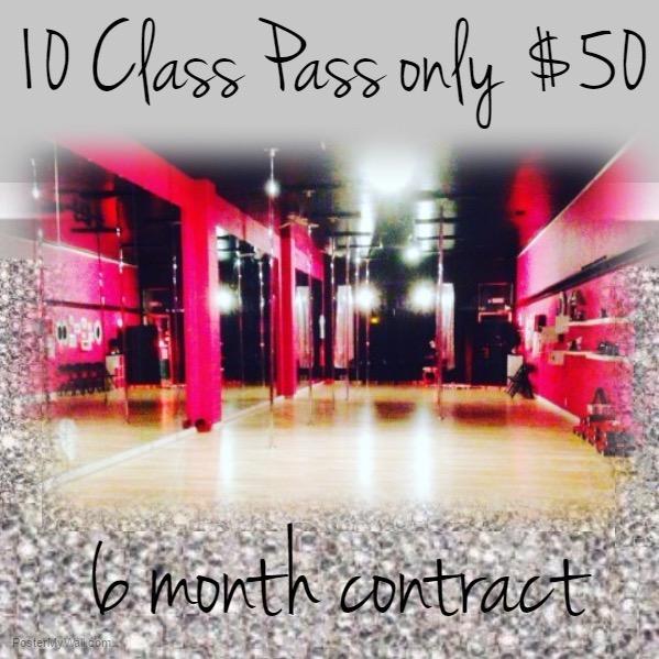 10 class pass $50